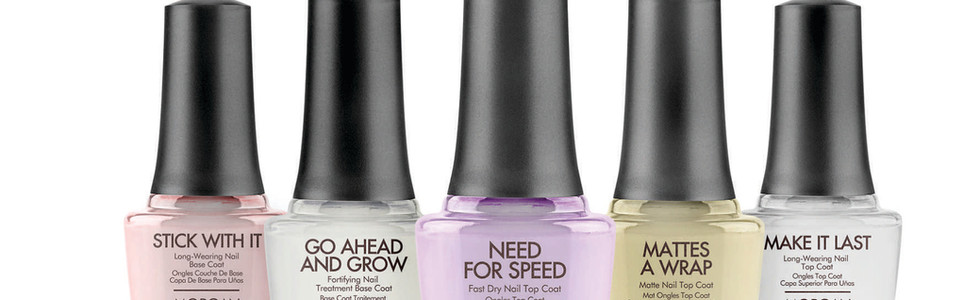 These exceptional long-wearing base and top coats are must have for all nail types.