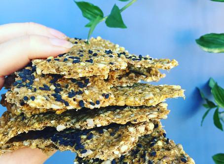 Seeded Buckwheat Crackers