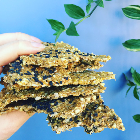 Seeded Buckwheat Crackers