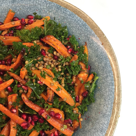 Warm Winter Salad  with Cumin Roast Carrots