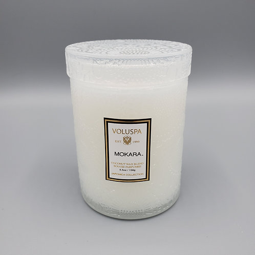 Mokara Embossed Candle