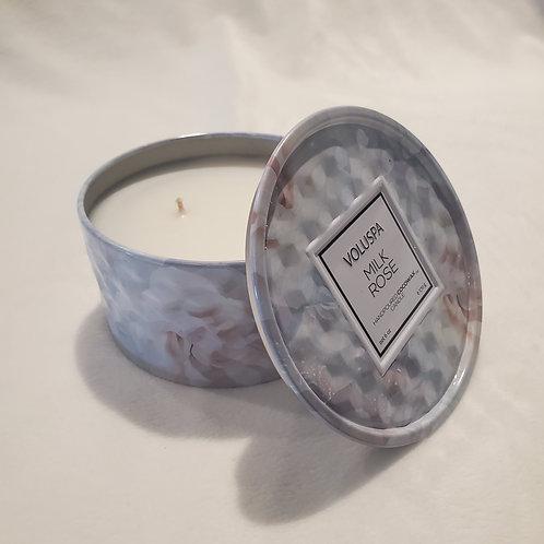 Milk Rose Mini Candle