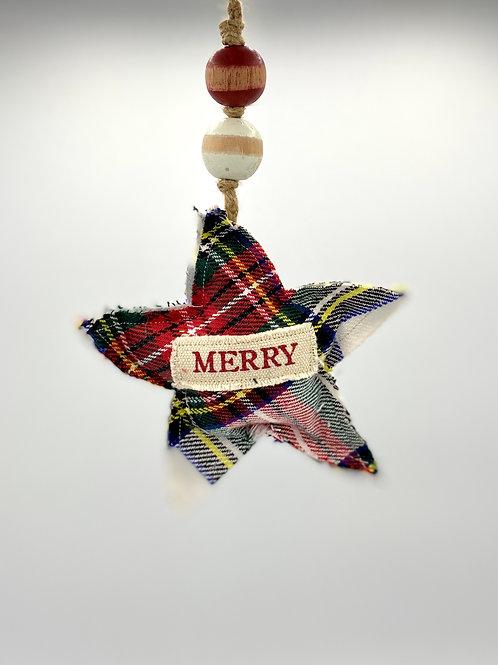 Tartan Ornament - Merry
