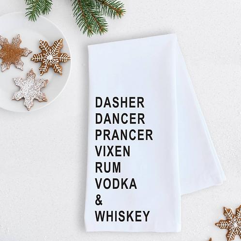 Tea Towel Rum Vodka & Whiskey