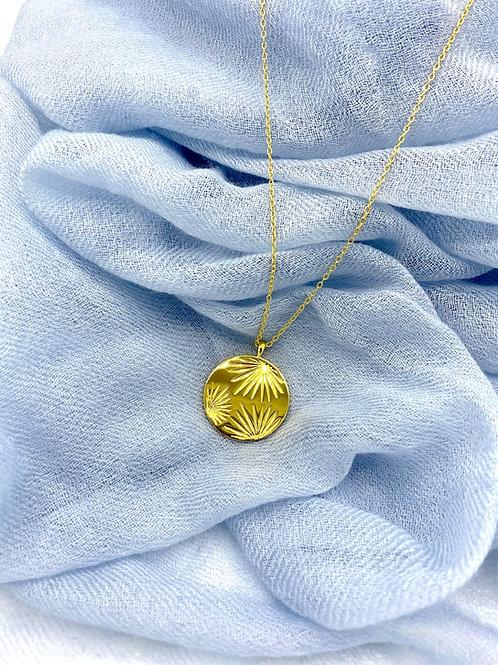 Gold Necklace Sunburst