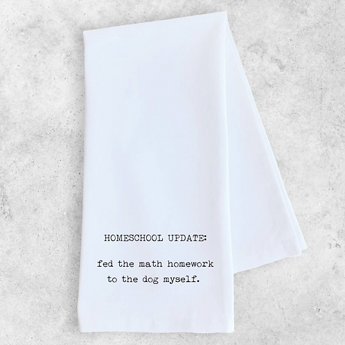 Tea Towel Homeschool Update