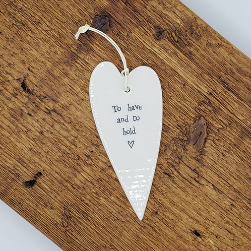 Ceramic Heart Hang Tag - Have and Hold