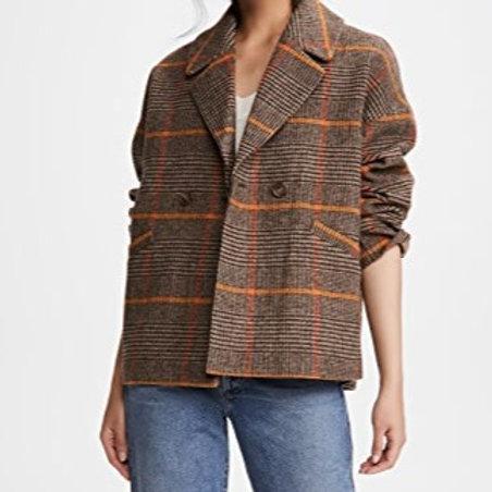 Plaid Wool Coat by Velvet