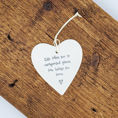 Ceramic Heart Ornament -Unexpected Places