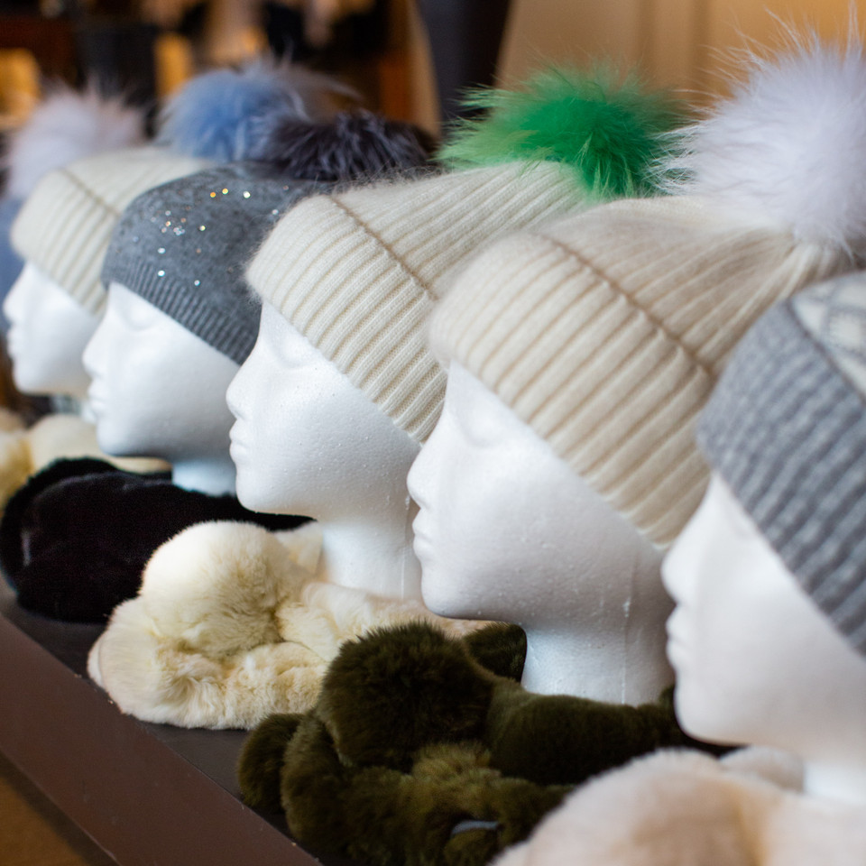 Winter hats at Sweet Potato's Boutique