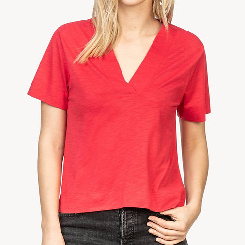 Short Sleeve Vneck Tee by Lilla P