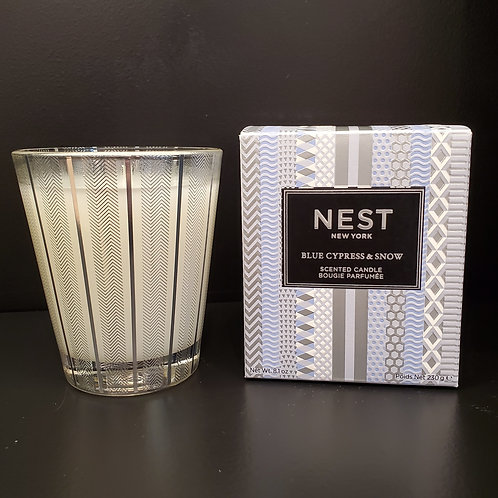 Nest 8.1 oz  Blue Cypress & Snow Scented Candle