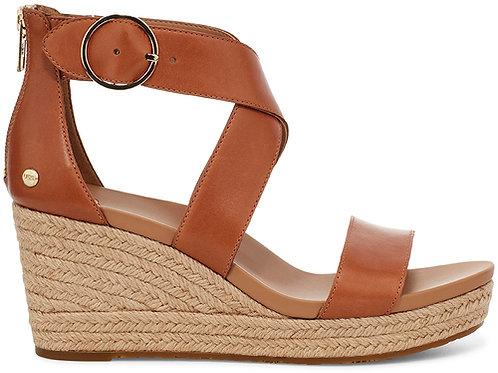 Hylda Leather Wedge - Tan
