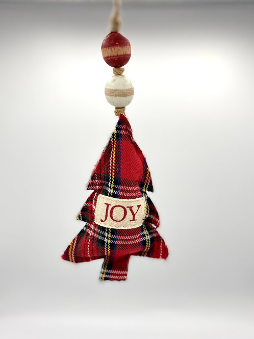 Tartan Ornament - Joy