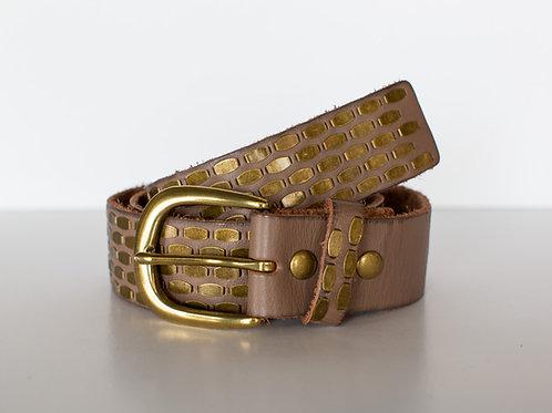 Taupe Stud Belt