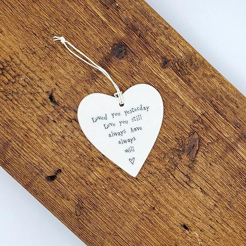 Ceramic Heart Ornament -Love You Always