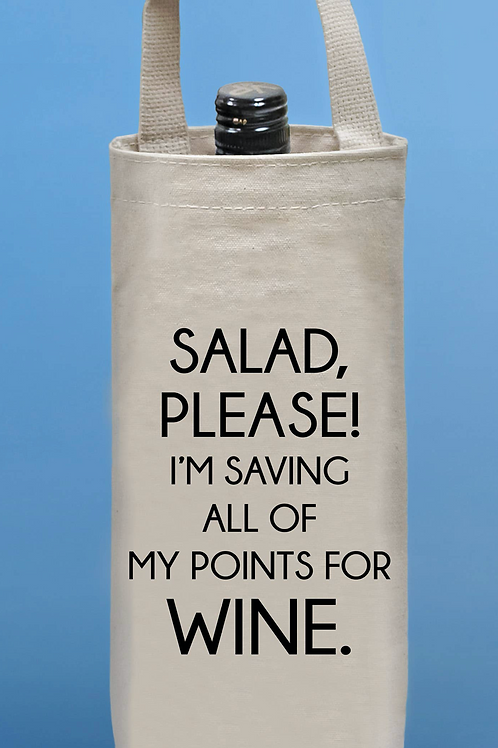 Salad Please Wine Tote