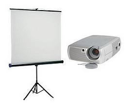 Option vidéo projecteur HD + écran