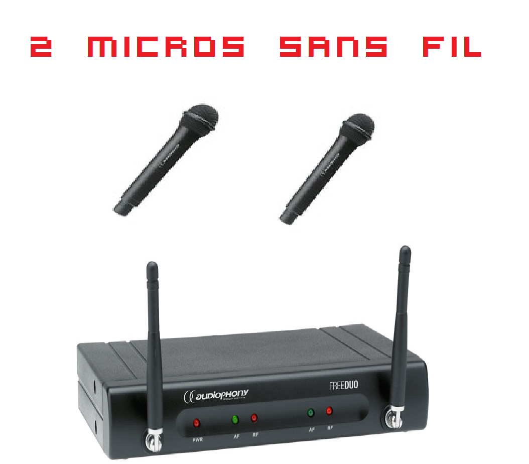 Option deux micros HF ( sans fil )