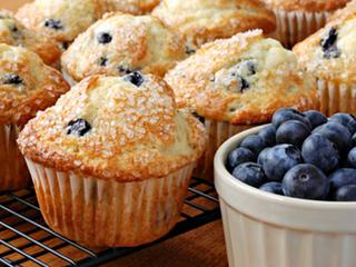 Tiger nut Blueberry Muffins