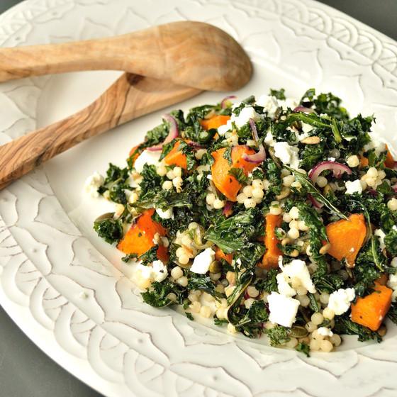 Recipe: Roasted Squash & Kale Salad