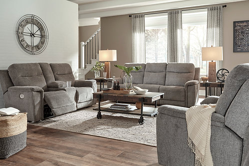 Mouttrie Power Reclining Sofa with Adjustable Headrest