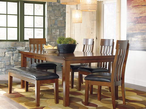 Ralene - 6 Pc. - Rectangle Dining Room Table, Chairs and Bench