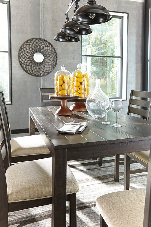 Rokane Dining Room Set Table and Chairs (7 piece)