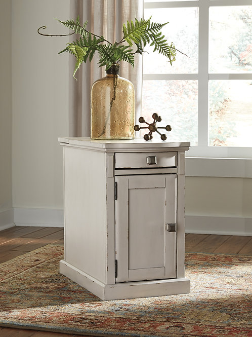 Laflorn Chair Side End Table - White