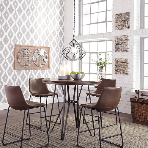 Centiar  5 pc Dining Room Counter Table & 4 Barstool