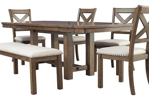 Moriville Rect Dining Rm Extension Table w 4 chairs