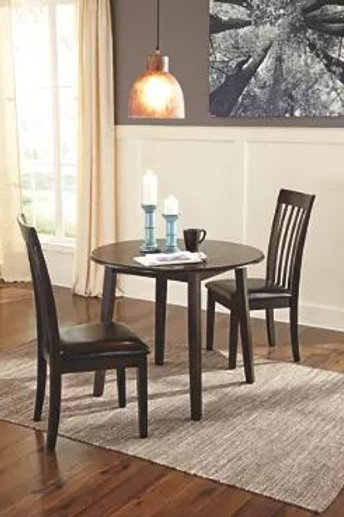 Hammis Dining Room Drop Leaf Table & 2 Chairs (3pc set)