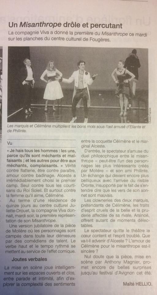 Merci Maité Hellio et merci Ouest France pour ce tout premier article.