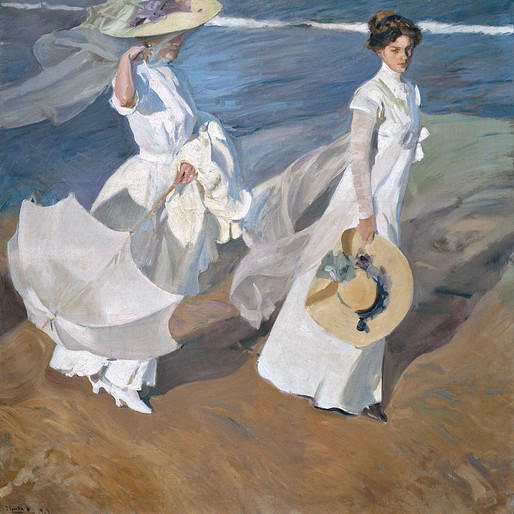 La Promenade au bord de la mer de Joaquín Sorolla