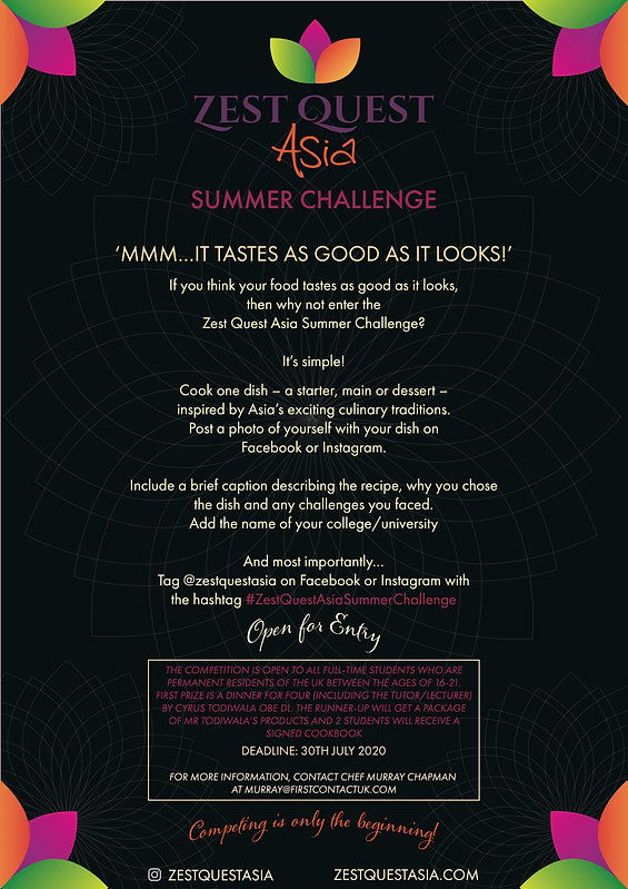 Zest Quest Asia Summer Challenge Poster.