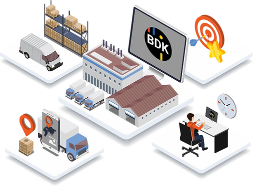 Beschreibung der Transportsoftware für Stückgutunternehmen von der BDK.