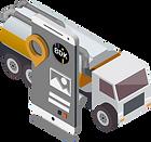 Kanalreinigungsfahrzeug sowie Tablet mit Telematiklösung der BDK.