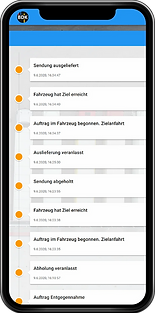Handyscreenshot von Track and Trace