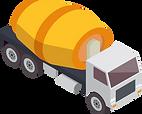 Lastwagen im Baustoffhandel.