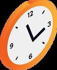 Isometrische Vektorgrafik einer Uhr.