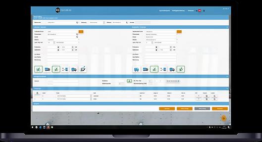 Screenshot der Auftragserfassung im Kundenportal