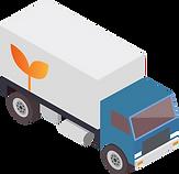 Vektorgrafik eines Lastwagens im isometrischen Stil.