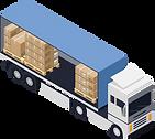 Stückgutlastwagen, welcher Aufträge mit digitaler Dispositionssoftware abwickelt.