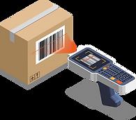 Packstückscanning mit einem Barcode und einerm Handscanner