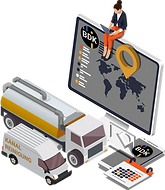 ERP-System, das den Einsatz von Fahrzeugen und Geräten plant.