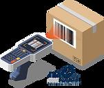 Packstückscanning und mobiles Quittieren eines Paketes.