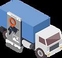 Fahrzeugkommunikation zur digitalen Auftragsübermittlung an die Fahrzeuge.