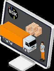 Ressourcenplanung für Lastwagen, Personal sowie Geräte.