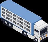 Lastwagen eines Unternehmens für Tiertransporte.