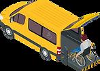 Invalidenfahrzeug für Personentransporte.